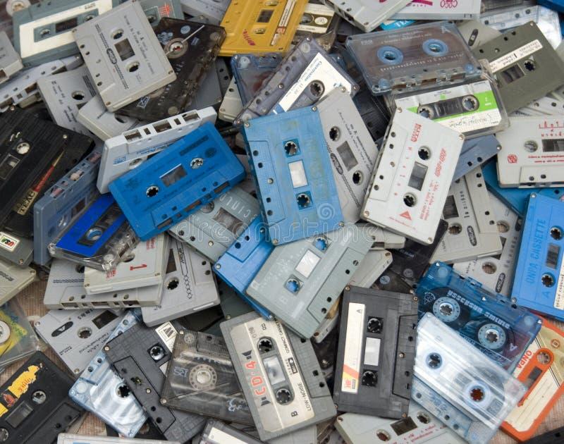 Cintas de cassette fotos de archivo libres de regalías