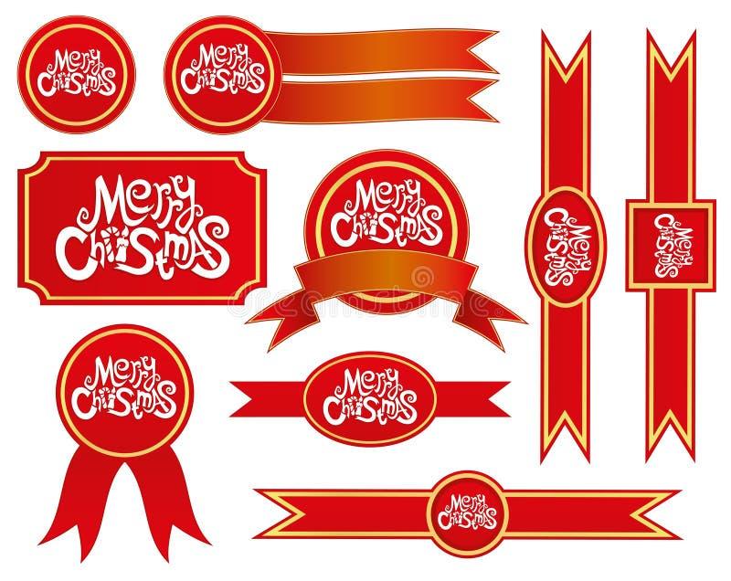 Cintas de la Navidad ilustración del vector