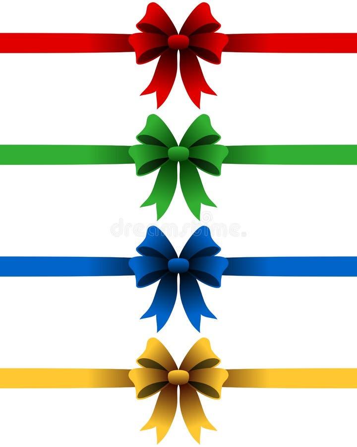 Cintas de la Navidad fijadas stock de ilustración