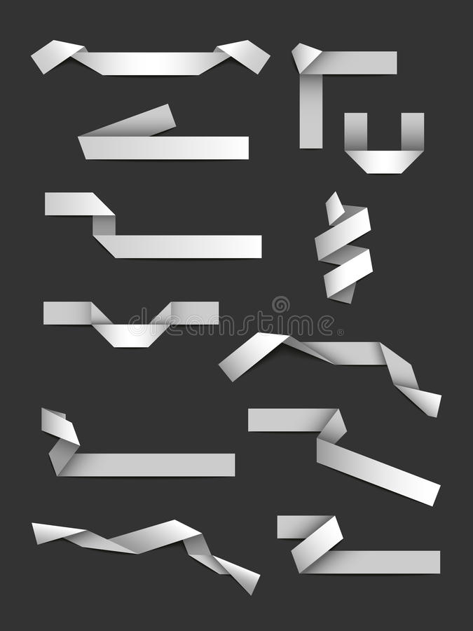 Cintas de la papiroflexia libre illustration