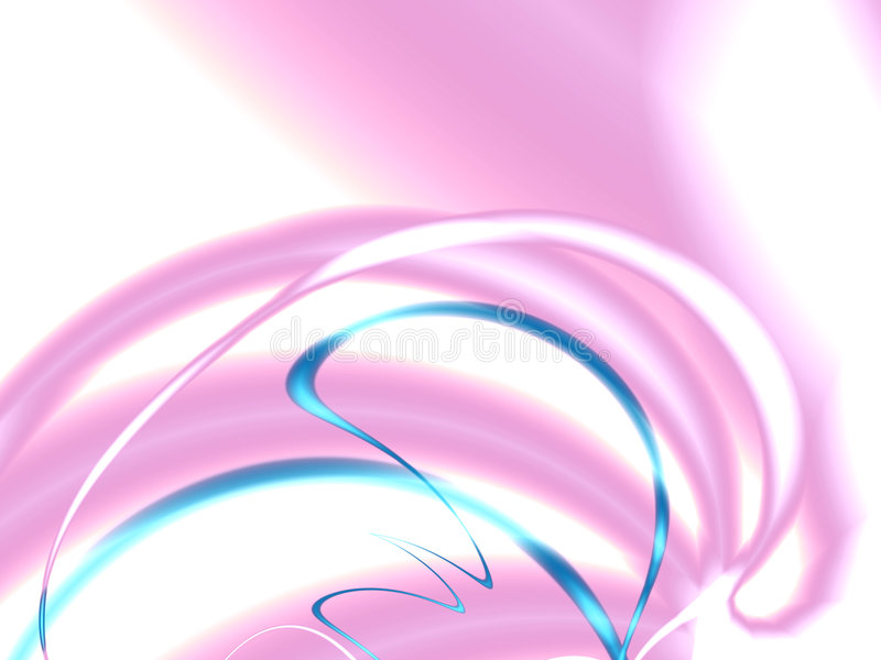 Cintas del azul y de colores color de rosa stock de ilustración