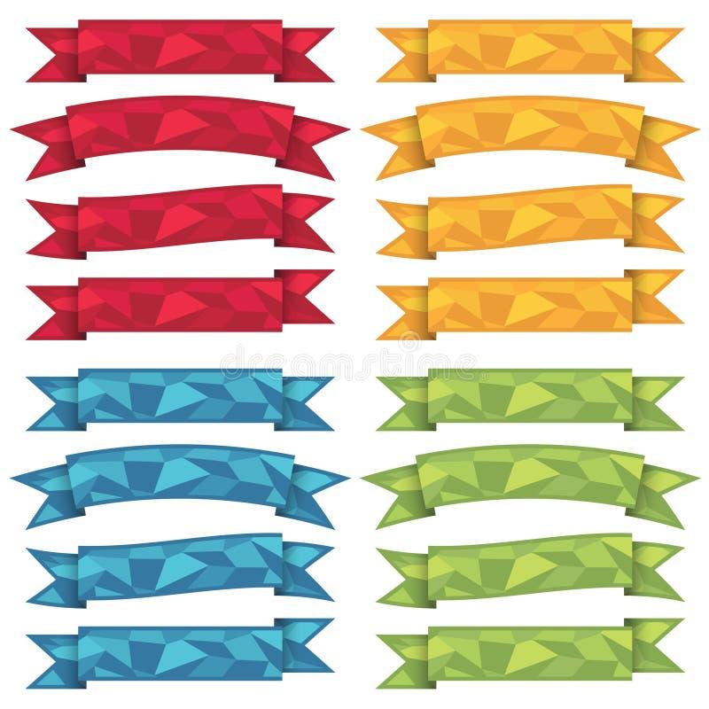 Cintas del polígono ilustración del vector