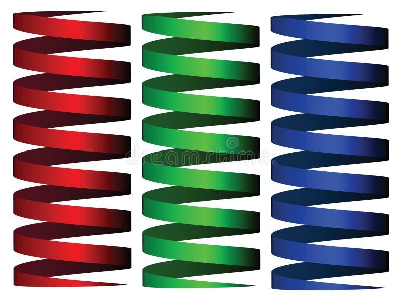 Cintas del rgb del cilindro stock de ilustración
