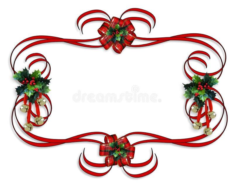 Cintas del rojo de la frontera de la Navidad stock de ilustración