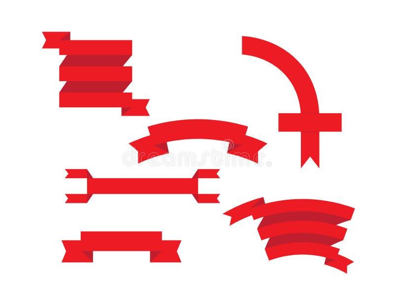Cintas fijadas ilustración del vector