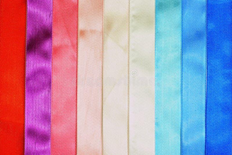 Cintas multicoloras imagenes de archivo