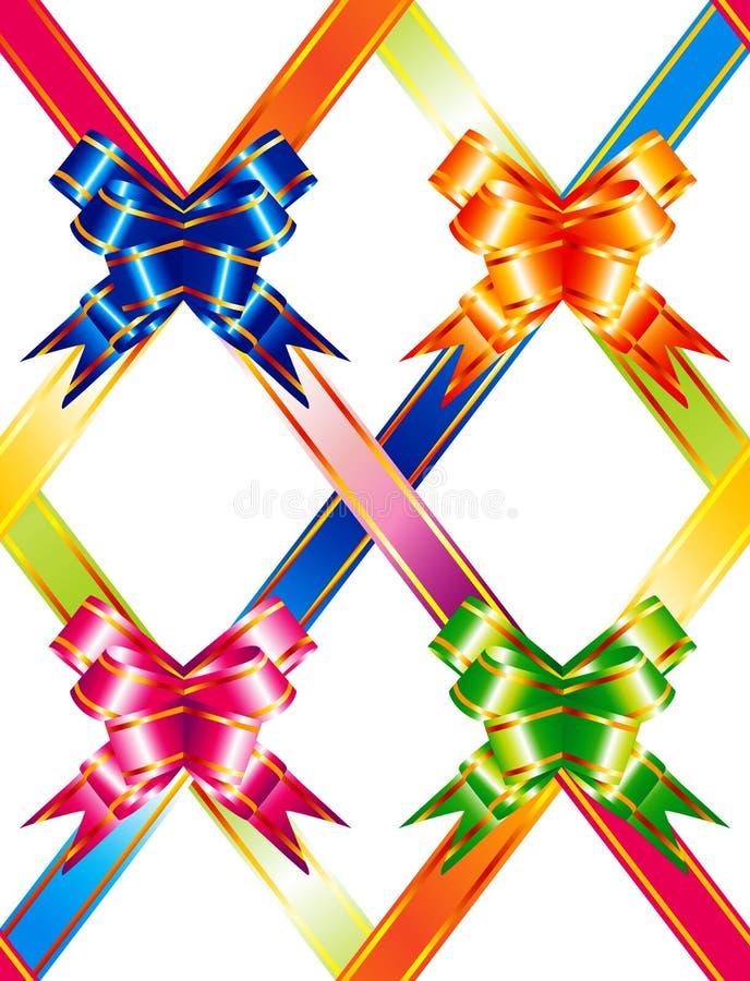 Cintas multicoloras ilustración del vector