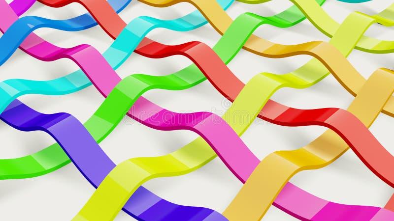 Cintas multicolores ilustración del vector