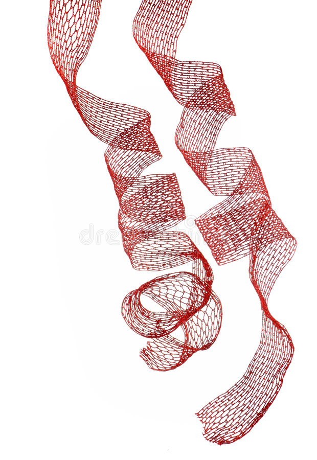 Cintas rojas de la Navidad imagen de archivo