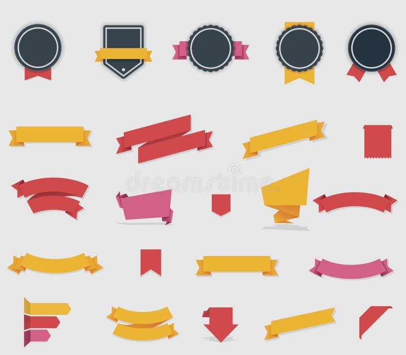 Cintas y etiquetas del vector libre illustration