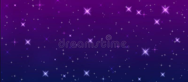 A cintilação protagoniza no céu noturno ilustração royalty free