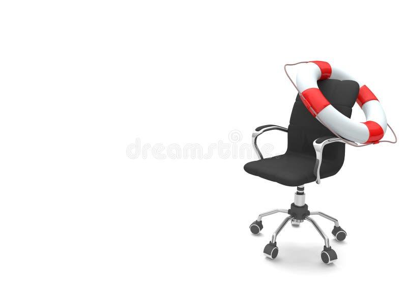 Cinto de salvação da cadeira de giro ilustração royalty free