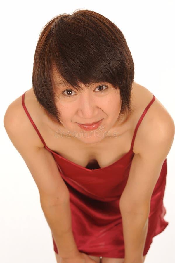 Cintrage asiatique de femme   photographie stock libre de droits