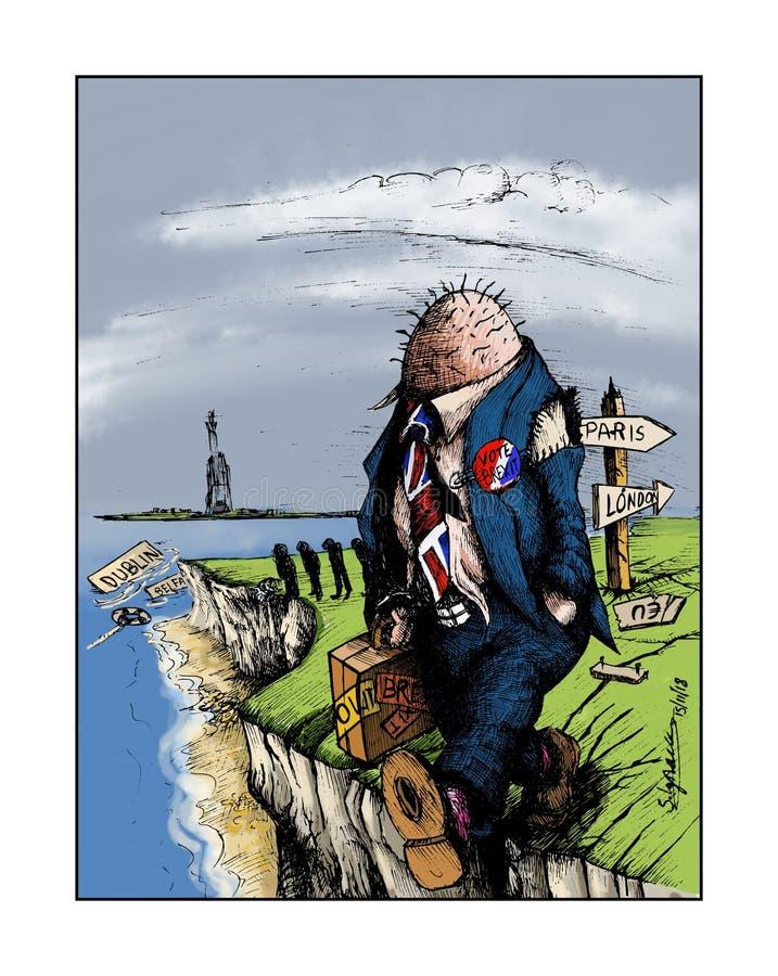 Cintre de falaise de Brexit illustration stock