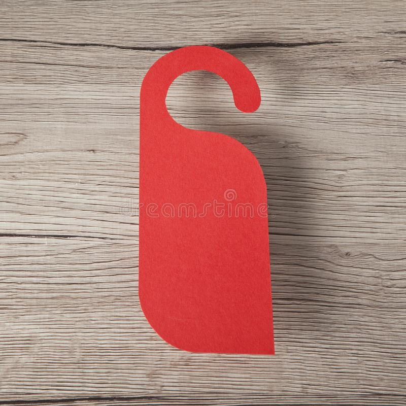 Cintre de porte rouge photographie stock