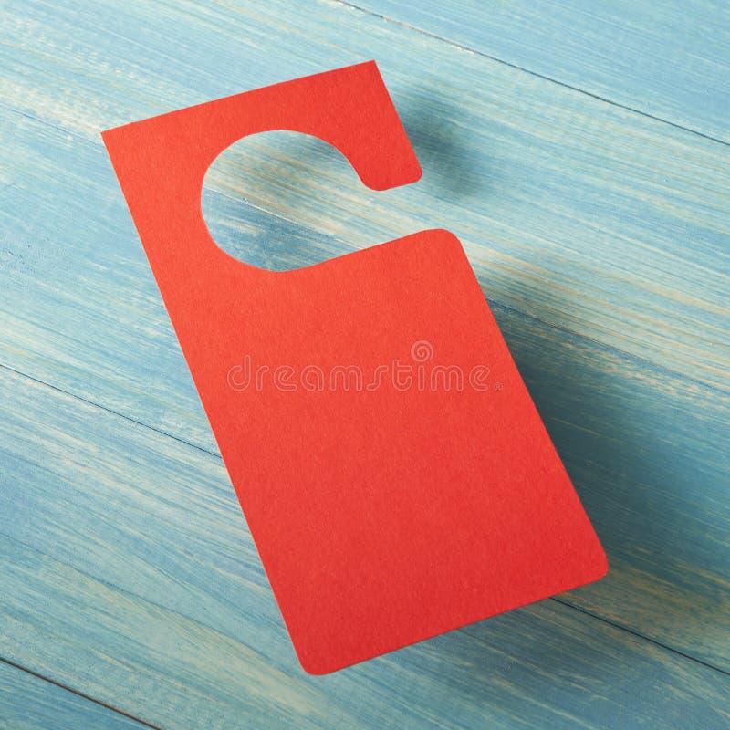Cintre de porte rouge photo libre de droits
