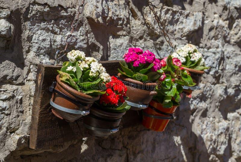 Cintre de pots de fleur photographie stock