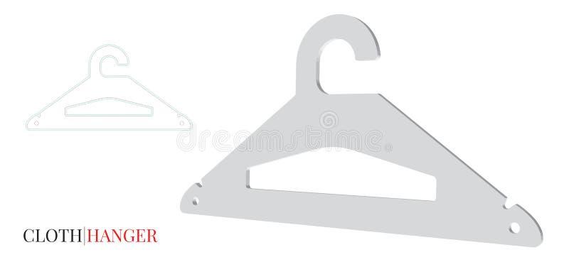 Cintre de tissus, illustration de papier de cintre de tissus Le vecteur avec découpé/laser avec des matrices a coupé des couches illustration libre de droits
