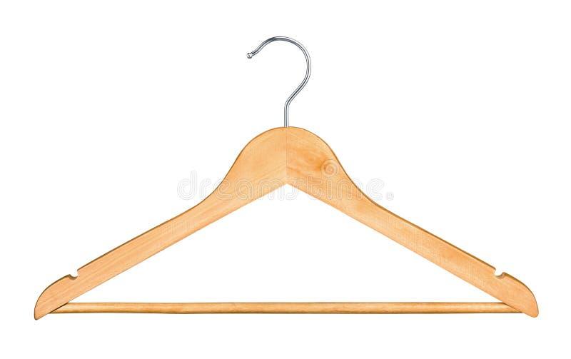 Cintre en bois pour des vêtements photographie stock libre de droits