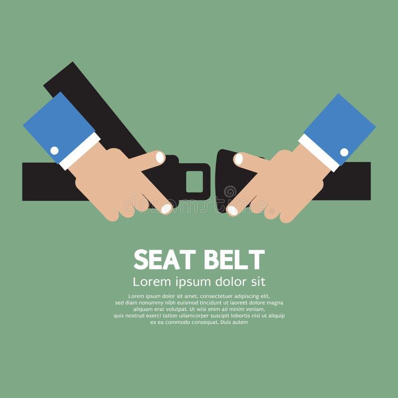 Cinturón de seguridad ilustración del vector
