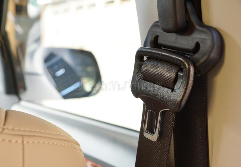 Cinturón de seguridad de coche imagen de archivo