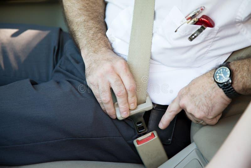 Cinturón de seguridad de la cerradura imagen de archivo libre de regalías
