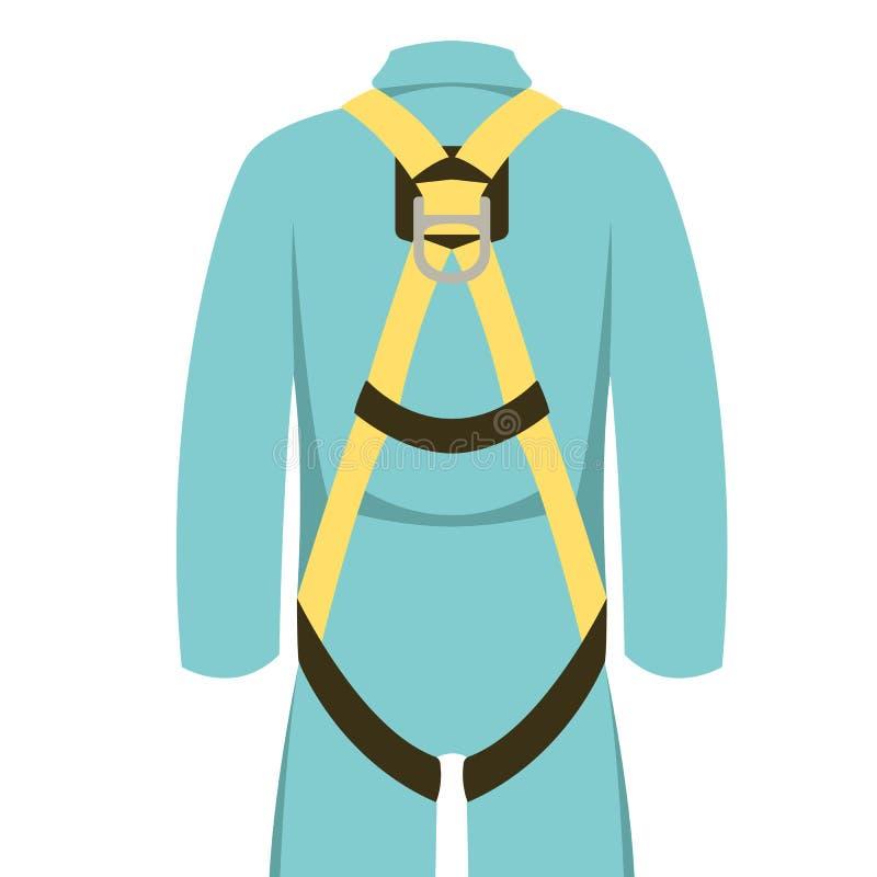Cinturón de seguridad, ejemplo del vector, frente plano del estilo ilustración del vector