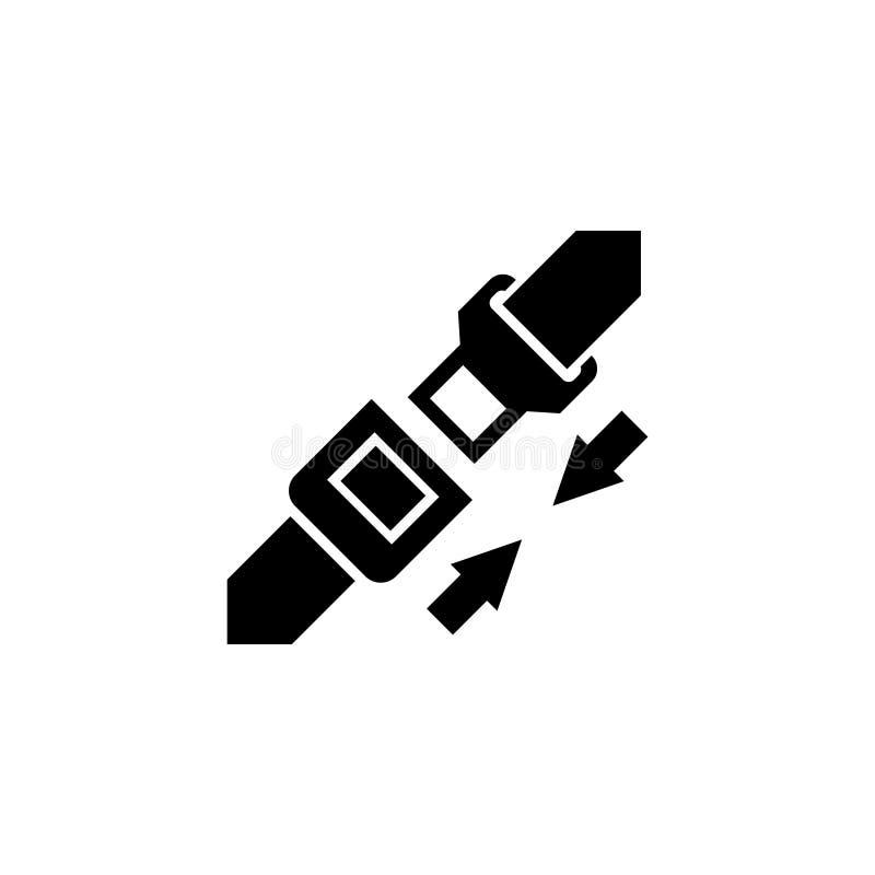 Cinturón de seguridad Icono plano del vector del cinturón de seguridad ilustración del vector