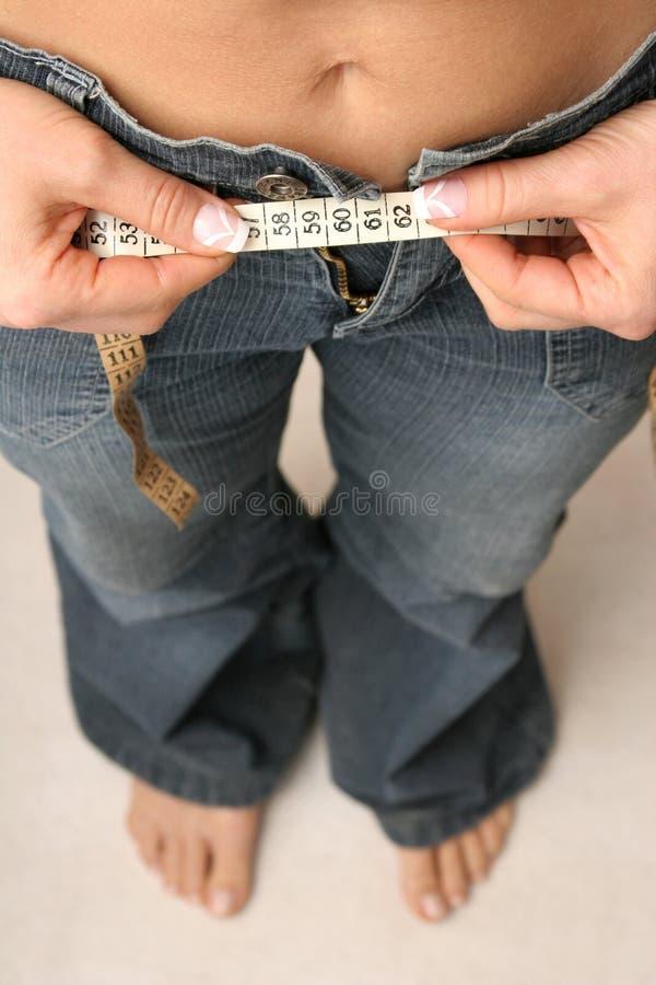 Cintura de medição foto de stock