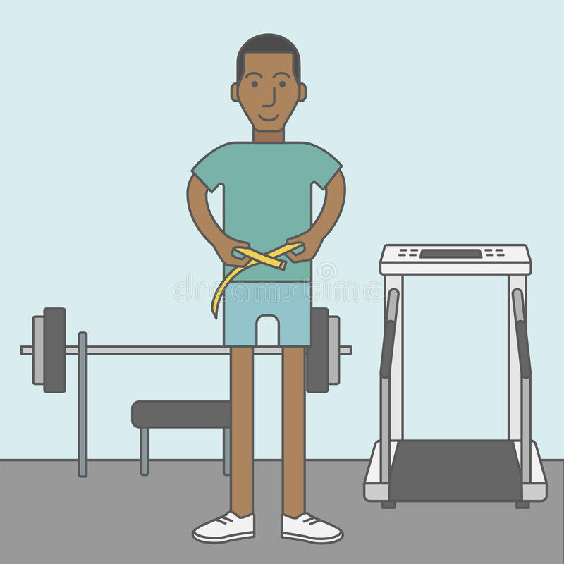 Cintura de medición del hombre libre illustration