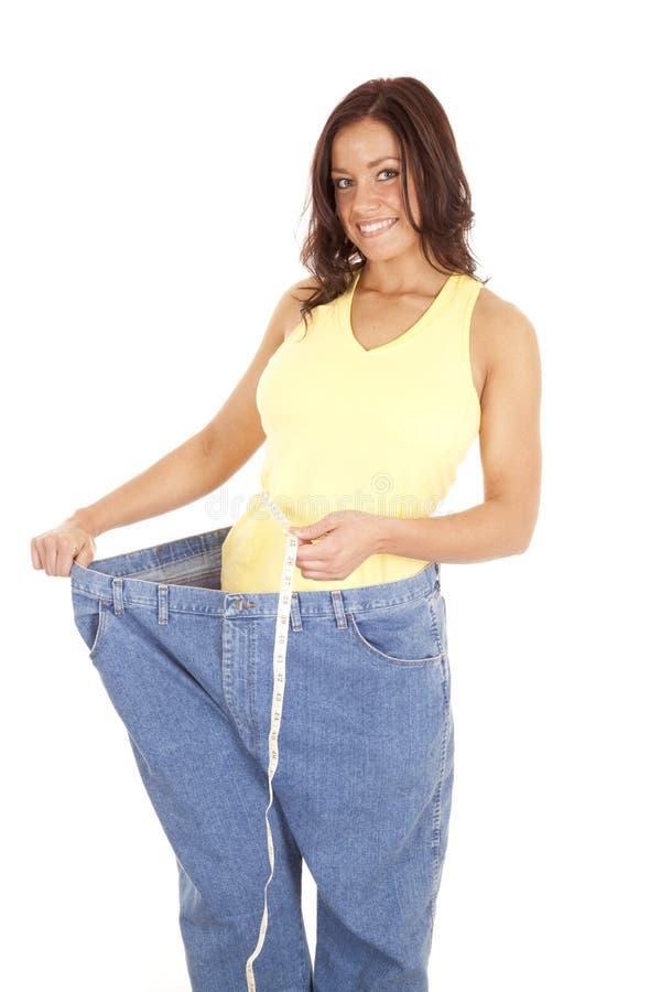 Cintura enorme da medida das calças imagem de stock