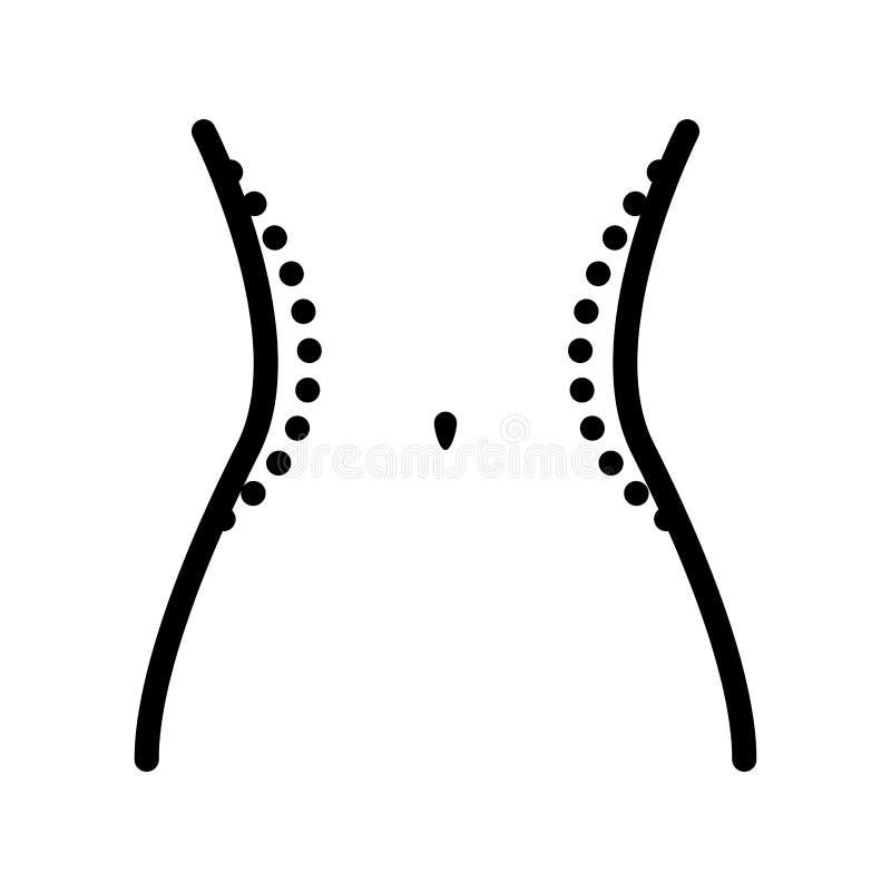 Cintura femenina con las líneas de la cirugía libre illustration