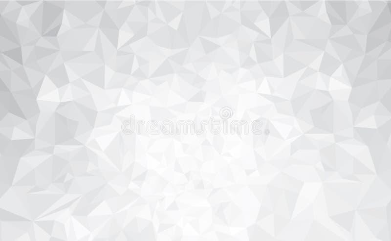 Cinza abstrato do vetor, fundo dos triângulos ilustração stock