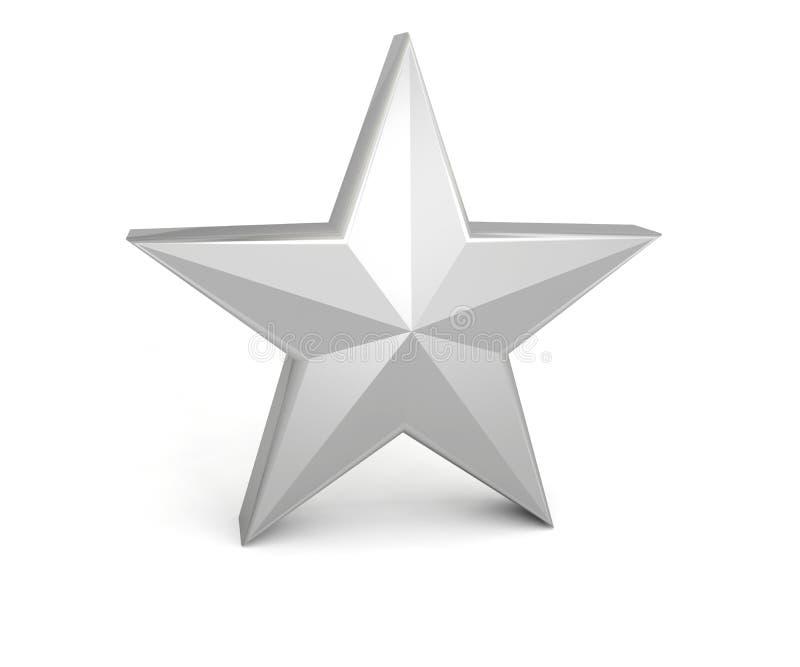 Cinza cinzento de prata da estrela ilustração do vetor