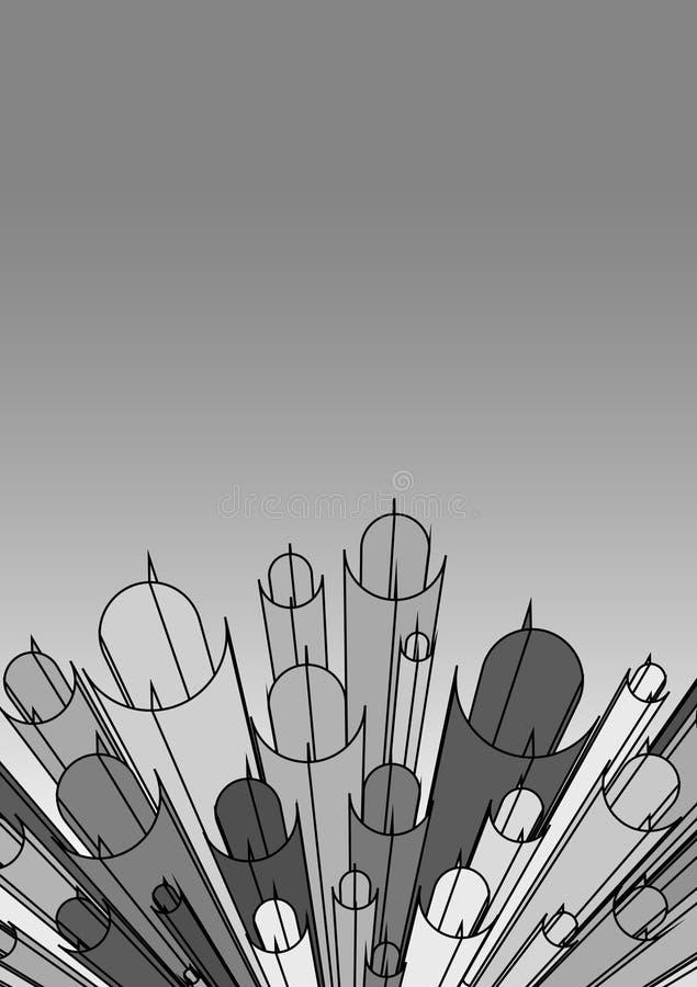 Cinza creativo ilustração do vetor