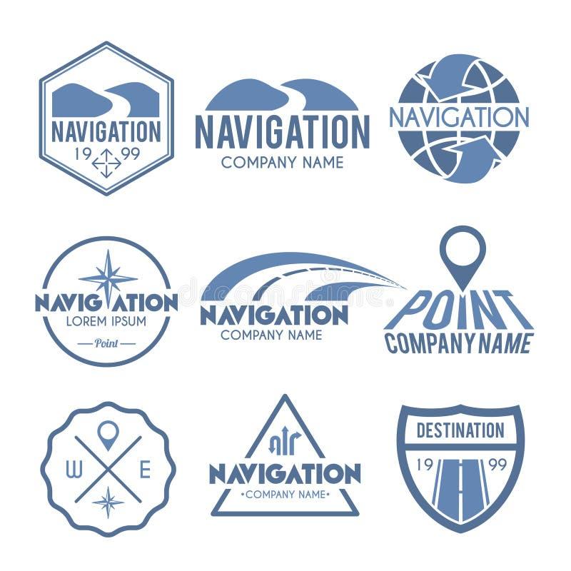 Cinza da etiqueta da navegação ilustração royalty free