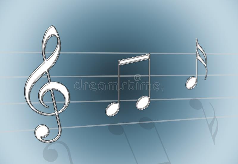 Cinza da música ilustração do vetor