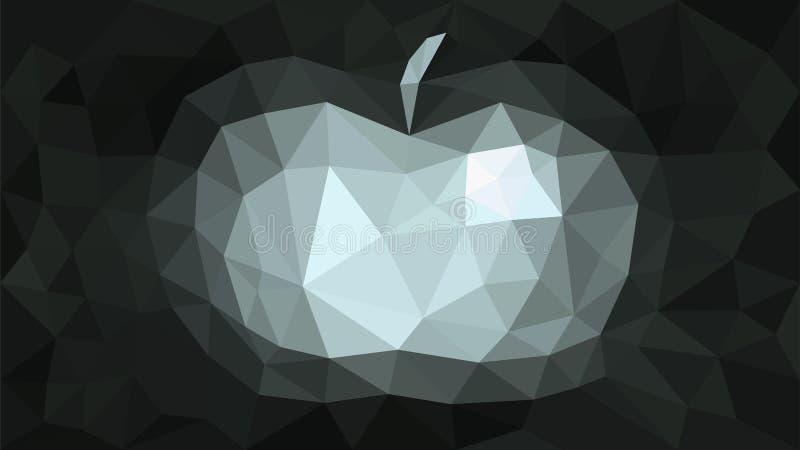 Cinza da maçã do sumário do fundo do triangulação imagem de stock royalty free
