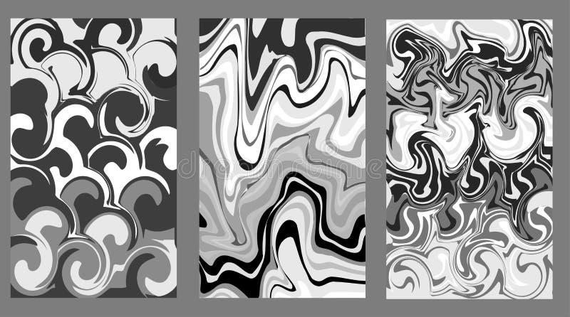 Cinza de mármore da textura Pinte o respingo Sumário Líquido colorido Pode ser usado para o cartaz, cartão, folheto, convite, liv ilustração stock