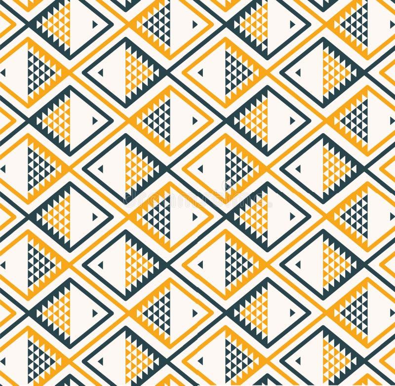 Cinza do amarelo do teste padrão do fundo dos peixes ilustração stock