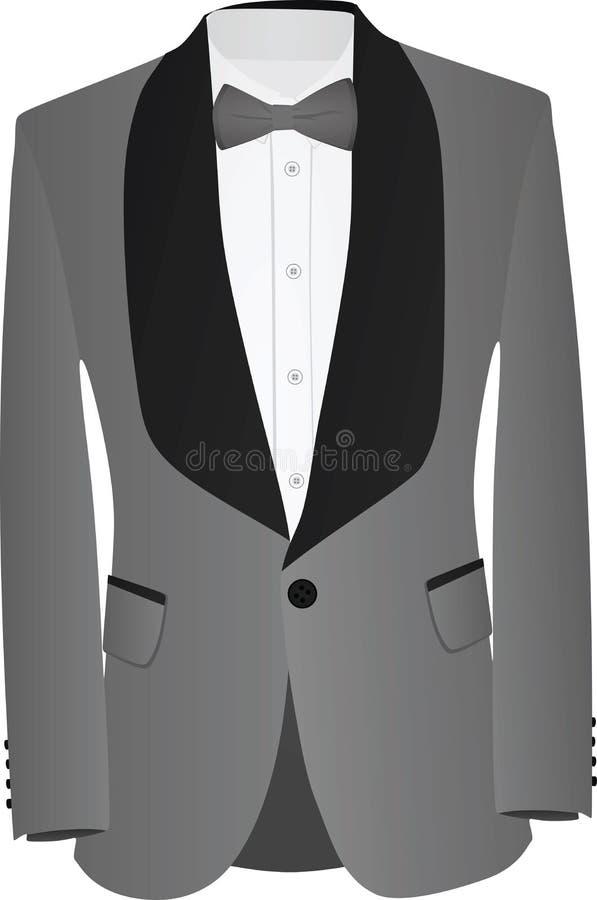 Cinza e terno preto ilustração stock