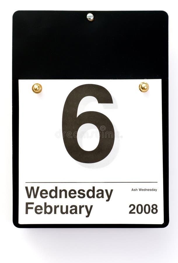 Cinza quarta-feira - 2008 imagem de stock royalty free
