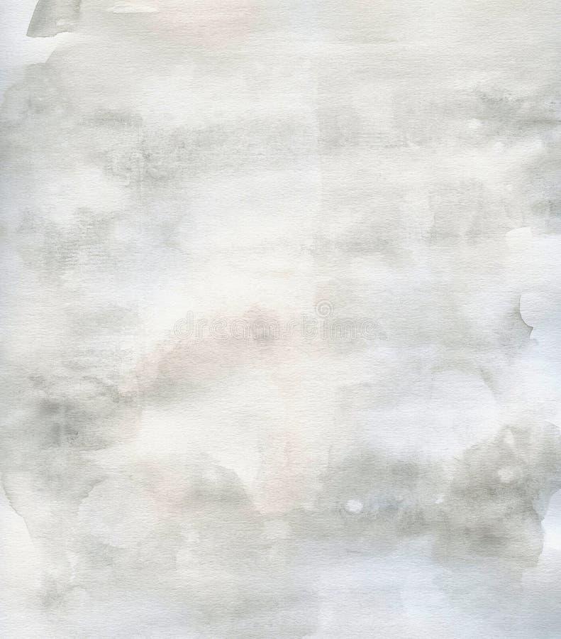 Cinza subtil do fundo da aguarela da textura do grunge ilustração do vetor