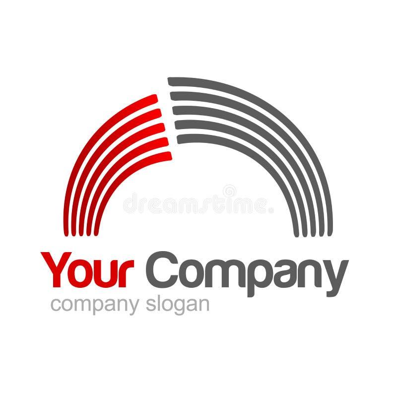 Cinza vermelho do logotipo ilustração royalty free