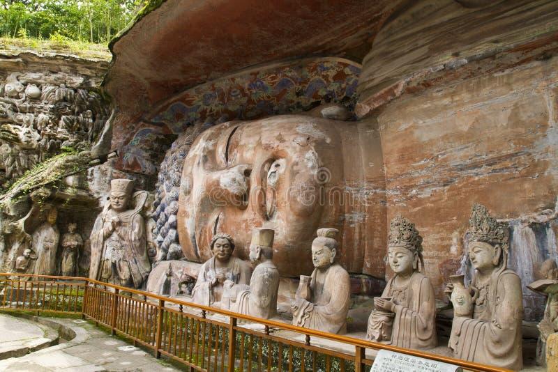 Cinzeladura antiga da rocha de China fotos de stock
