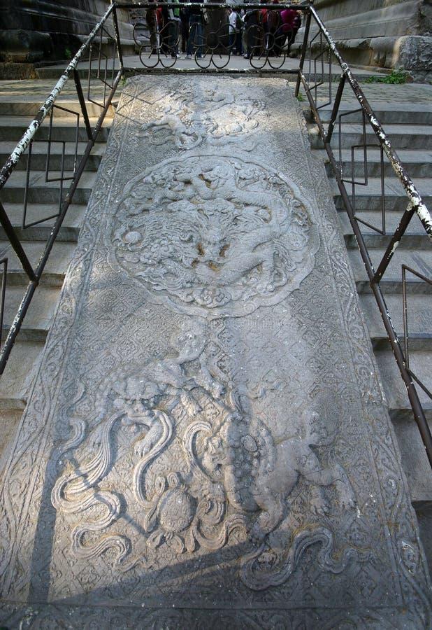Cinzeladura chinesa da pedra fotografia de stock royalty free