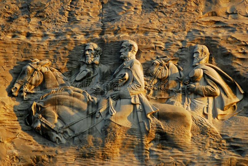 Cinzeladura confederada imagem de stock royalty free