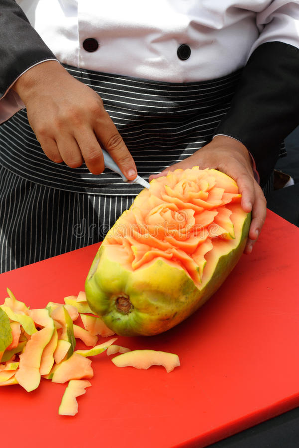 Cinzeladura da fruta fotos de stock