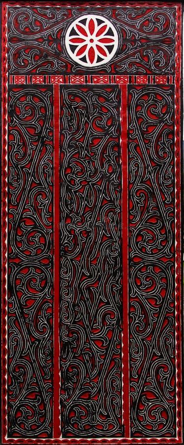 Cinzeladura de madeira dos povos de Batak. fotografia de stock