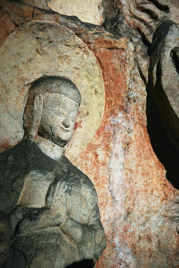 Cinzeladura de pedra de Yungang 10 fotos de stock royalty free